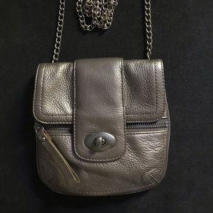 Banana Republic Gold Leather Crossbody Bag